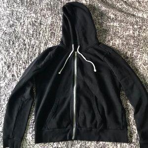 H&M zip up black hoodie